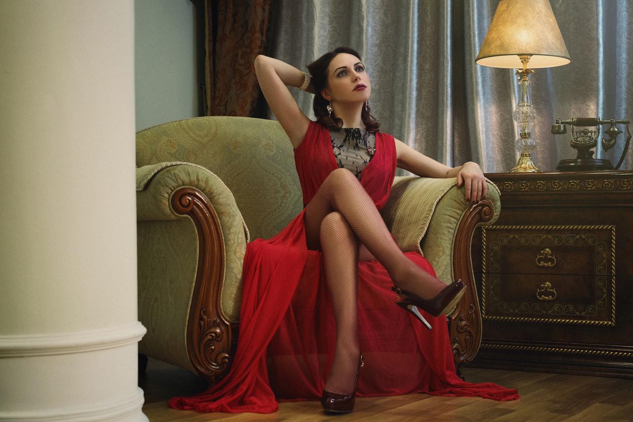 Robe rouge sexy de soirée